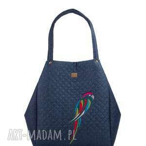 wyjątkowe torebki pikowana torebka papuga 514