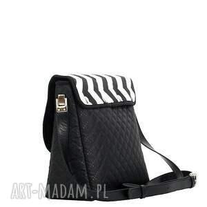 białe torebki torebka puro 265 black&white
