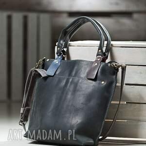 czarne torebki torebka skórzana ręcznie robiona
