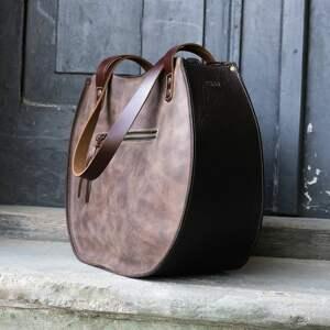 czerwone torebka skórzana torba ręcznie