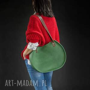 torebki zielona torba torebka basia jest dużą miejską torebką