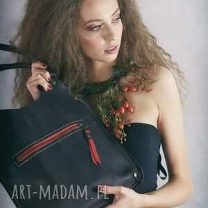 upominek świąteczny oryginalna torba kolory kolor skóry = czarny mat