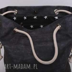 handmade torebki dżinsowa torebka w kształcie worka, imitacja