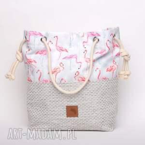torebki flamingi torebka w kształcie worka