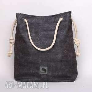 torebki szara torebka w kształcie worka, imitacja
