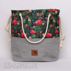 torebki flamingi torebka worek w kwiaty,