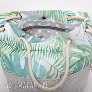 torebki pastelowa torebka worek w liście monstery