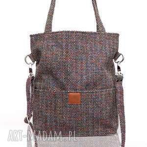 kieszonki torebki torebka z grubej melanżowej