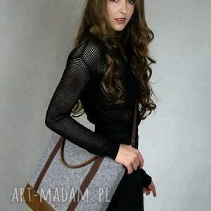 awangardowe torebki torba tote classic brown