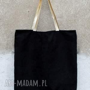nietypowe torebki torba tote xxl black gold