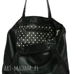 niepowtarzalne torebki torba tote zipp - black