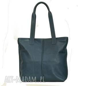 niebanalne torebki torba turkusowa ze skóry licowej