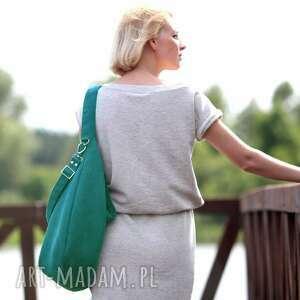 torebki torebka turkusowa torba w kształcie łódki