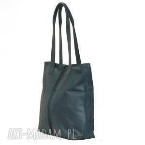 torebki torebka turkusowa torba ze skóry licowej