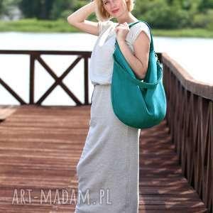 torebka torebki turkusowa torba w kształcie łódki