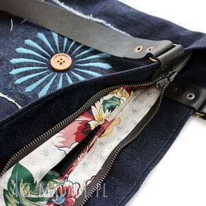 niebieskie torebki jeansowa wakacyjna