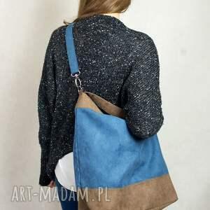 niebieskie torebki torba woor jagoda/orzech