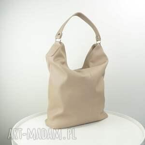 ręcznie zrobione torebki worek xxl beżowy cappuccino