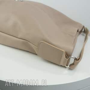 beżowe torebki worek xxl beżowy cappuccino
