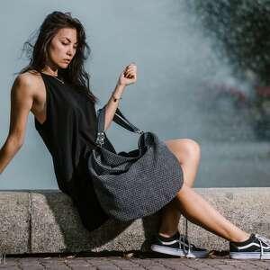 ręcznie zrobione torebki torba-worek worek na ramię z plecionej tkaniny