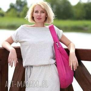 torebki różowa workowata torba z ekologicznego