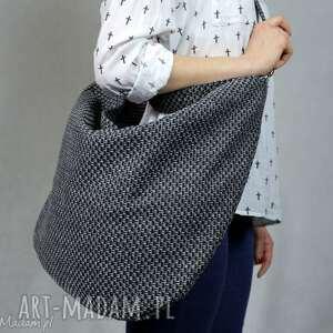 worek torebki workowata torba z grubo plecionej