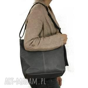 szare torebki torba wygodna torebka ze skóry w kolorze
