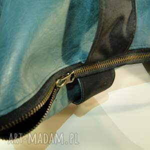 32bd1a93df235 zielony shopper z ekoskóry - Ręcznie robione torebki
