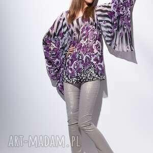moda tuniki fioletowe havana tunika w kwiaty 38