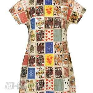 tuniki designerska kolorowa, niezwykła tuniko sukienka