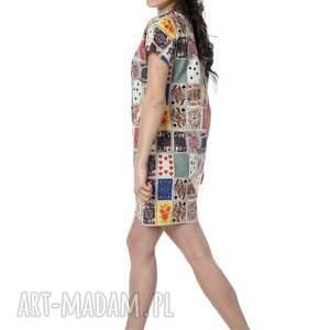 designerska tuniki kolorowa, niezwykła tuniko sukienka