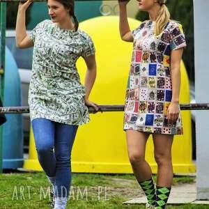 tuniki wyjątkowa kolorowa, niezwykła tuniko sukienka