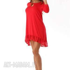 gustowne tuniki tunika sukienka oversize z koronką