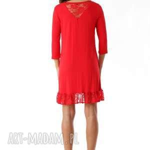 gustowne tuniki tunika z-falbaną sukienka oversize z koronką