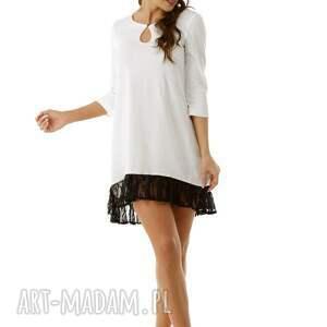 tuniki sukienka tunika oversize z koronką