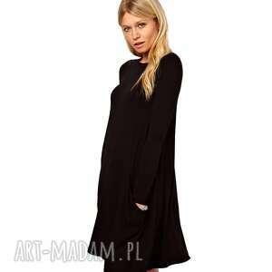 czarne tuniki sukienki tunika z kieszeniami