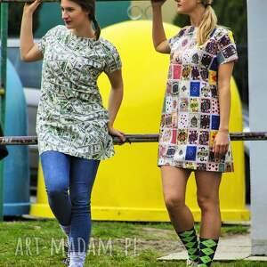 modne tuniki designerska wyjątkowa bawełniana tuniko sukienka