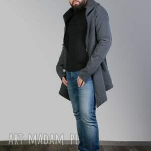 z kapturem ubrania bluza płaszcz męski