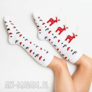 pomysł na święta upominki skarpetki ciepłe zimowe podkolanówki mad socks w motywy