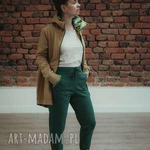 zielone ubrania komplet-damski dres damski jungle - musztardowy