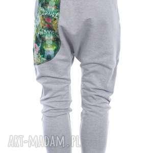 zestaw damski ubrania dres jungle - szary - bluza