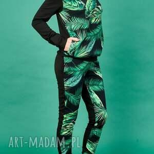 gustowne ubrania wzór tropikalny dres w tropikalne liście