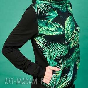 ubrania wzór tropikalny bawełniany dres czyli bluza