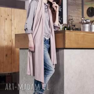 brązowe ubrania elegancki duży szal z bawełny organicznej