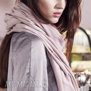 ubrania pudrowy duży szal z bawełny organicznej