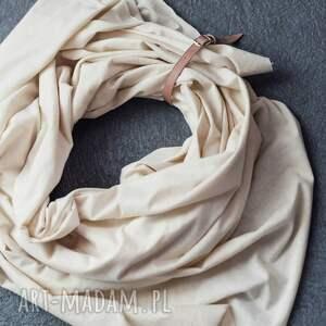 ubrania organiczna duży szal z bawełny organicznej