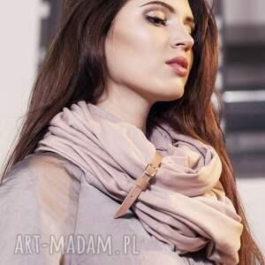 pudrowy ubrania duży szal z bawełny organicznej