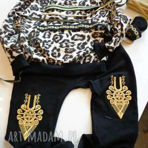oryginalne ubrania folk góralskie portki dresowe