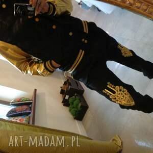 czarne ubrania folk góralskie portki dresowe