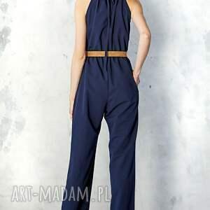 Kasia Miciak design ubrania: Granatowy kombinezon - ponadczasowy